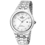 Relógio Champion CA21580 Prata Vidro Cristal Mineral
