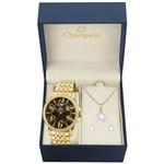 Relógio Champion Cn27358k com Kit Semijoias