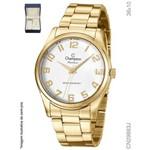 Relógio Champion Dourado Feminino com Colar Cn29883j
