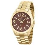 Relógio Champion Feminino Analógico Dourado Cn25225o