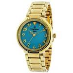 Relógio Champion Feminino Banhado a Ouro CN26395F