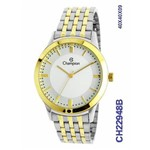 Relógio Champion Feminino Bicolor Cristais Ch22948b
