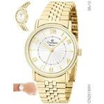 Relógio Champion Feminino Dourado Aço Cn25190h
