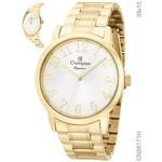 Relógio Champion Feminino Dourado Analógico Cn26171h