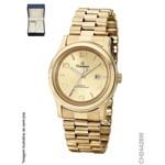 Relógio Champion Feminino Dourado Ch24428w Kit