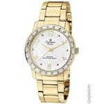 Relógio Champion Feminino Dourado Cristais Aro Ch24437h