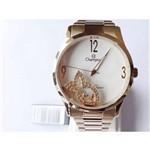 Relógio Champion Feminino Dourado Wr 50 Metros Cn28553h