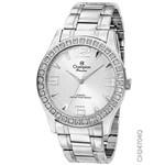 Relógio Champion Feminino Prata com Cristais Ch24704q