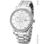 Relógio Champion Feminino Prata Multi Função Ch38413q