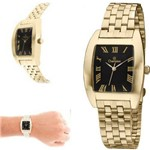Relógio Champion Masculino Dourado Quadrado CH22117U