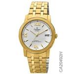 Relógio Champion Masculino Dourado Social Ca20492h