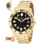 Relógio Champion Masculino Ref: Ca31364u Casual Dourado