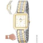 Relógio Champion Prateado e Dourado Feminino Ch24973b