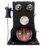 Relógio de Mesa e Porta Chaves Telefone do Papai Vintage