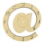 Relógio de Parede Arroba @ em MDF 21cm - Palácio da Arte
