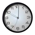 Relógio de Parede Branco e Preto 30cm Flat Urban