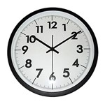 Relógio de Parede Branco e Preto 30cm Thick Urban