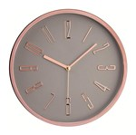 Relógio de Parede Cinza e Rosé 30cm Mart