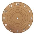 Relógio de Parede Disco de Vinil em MDF 18,6cm - Palácio da Arte
