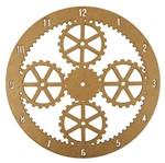 Relógio de Parede em MDF 30x30cm Engrenagens - Palácio da Arte
