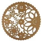 Relógio de Parede em MDF 30x30cm Flores e Borboleta - Palácio da Arte