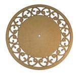 Relógio de Parede Margaridas Liso com Borda 18,5x18,5cm - Palácio da Arte