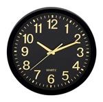 Relógio de Parede Preto e Dourado Lush 9399 Mart