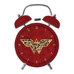Relógio Despertador Mulher Maravilha com 10 Leds e Som