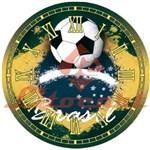 Relógio Madeira e Papel Decoupage Colado 20x20 Futebol Brasil Lmapcr-11 Litocart