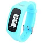 Relógio Pedômetro Liveup Contador de Passos e Calorias Azul