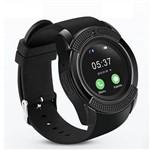 Relógio Smart Watch V8 Bluetooth Câmera Chip Cartão Sd Preto