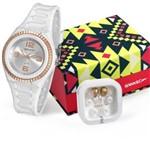 Relógio Speedo Feminino Branco Rosê com Fone de Ouvido