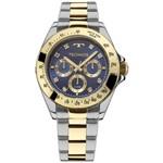 Relógio Technos Dourado e Prateado Elegance 6p29aiv/5a
