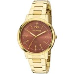 Relógio Technos Dourado Feminino Elegance Dress Analógico 2035mfn/4r