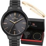 Relógio Technos Feminino Preto Dourado Fashion 2035MMD/K4P