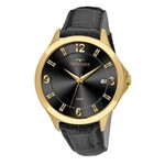 Relógio Technos Masculino Classic Steel com Pulseira de Couro 1S13CE/2P