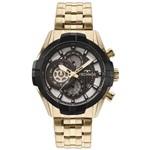 Relógio Technos Masculino Dourado Performance Sports Carbon Js15ew/4p
