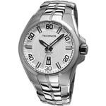 Relógio Technos Masculino Social Prata com Branco 2315KF/1K