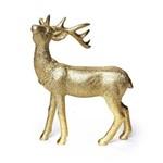 Rena Decoração Natal Resina 18 Cm Dourado