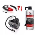 2 Reparador Pneu+1 Aspirador Pó 12v+ 1 Mini Compressor Ar 12