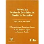 Revista Academia Bras. Dto.Trab. - Ano Xxi-N.21/16