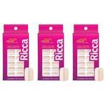 Ricca 1335 Unhas Artificiais Branco Sonho (kit C/03)