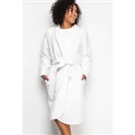 Robe com Punho e Acabamento de Vies - Off White 12001 U