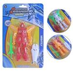 Robo Colors com Luz e Acessorios Mechanical Warriors na Cartela