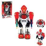 Robo Maxtrom Guerreiro do Espaco com Som e Luz a Pilha na Caixa Wellkids