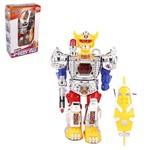 Robo Mega Hero com Som e Luz Acessorio a Pilha na Caixa Wellkids