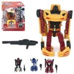 Robo Transforme Carro Hero Squad Super Robot com Acessorio Colors na Cartela Wellkids
