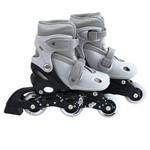Roller Infantil 30-33 com 3 Rodas Cinza 40600122 - Mor