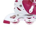 Roller Infantil 30-33 com 3 Rodas Rosa 40600121 - Mor