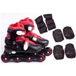Roller Infantil com Kit de Proteção Preto